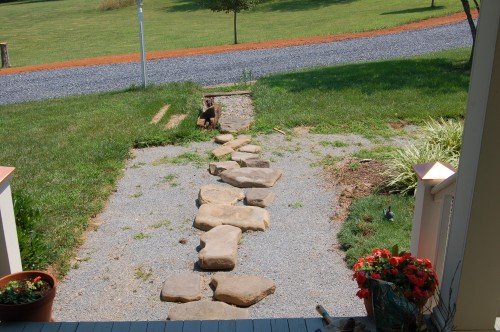 Walk after boulders are mostly removed.