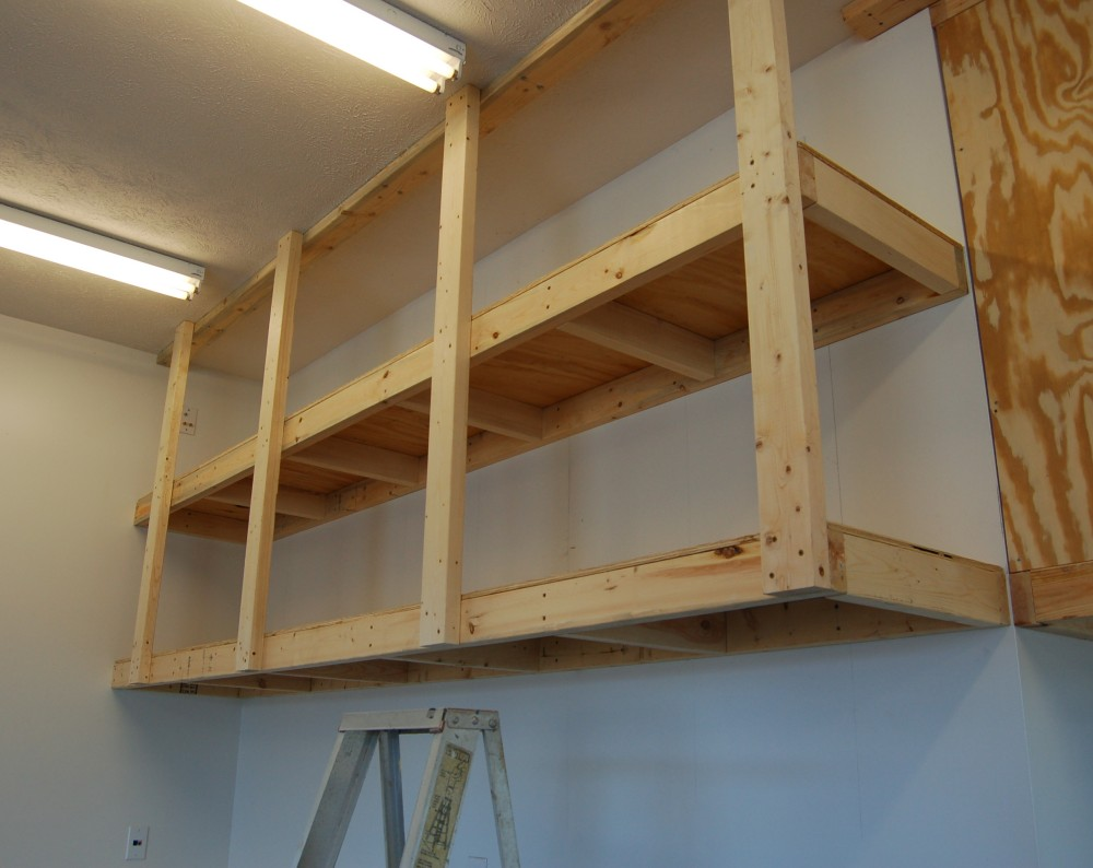 Awesome 2x4 Garage Hanging Shelving Ideas Selection – Overhead Garage Shelving Plans
