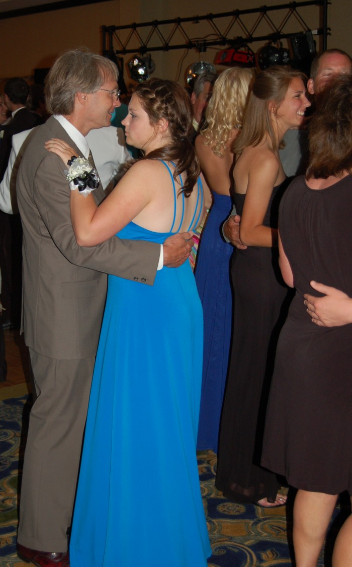Daughter and Pop Cutting the Rug